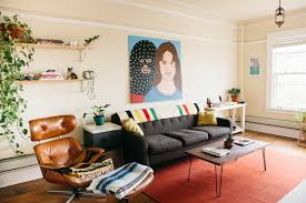 house tour a minimal colorful seattle studio apartment