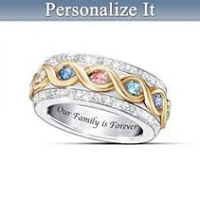 mothers day rings personalized forever in a s heart birthstone ring with names heart