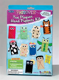 passover plague toys ten plagues puppets kit with paper bags