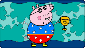 peppa pig coloring pages coloring book daddy pig father u0027s day