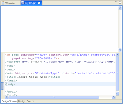 design html page in eclipse jsp tutorial step 2 create the contents of the jsp file