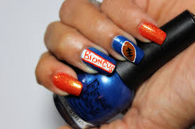 20 amazing and simple nail denver broncos nail design amazing denver broncos nail designs