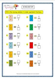 grade 3 maths worksheets 7 5 equivalent fractions lets share