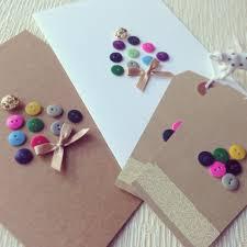 handmade button christmas cards u0026 tags christmas crafts