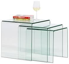 glass coffee table nest contemporary nesting tables glass rectangular adria boconcept