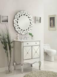 Silver Bathroom Vanity 30 Inch Mirrored Silver Bathroom Vanity Marble Top
