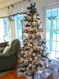 silver tip tree decorations tree decorating