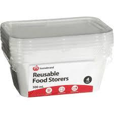 plastic ware homebrand plasticware food storage 300ml 4pk woolworths