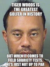 Tiger Woods Memes - tiger woods is the greatest golfer in history but when it comes to