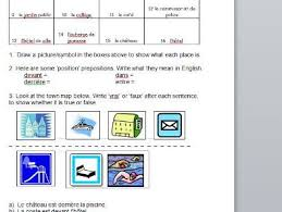 french places in town worksheet by jac42 teaching resources tes