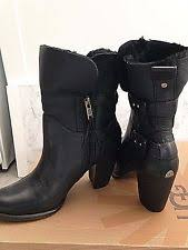 ugg womens mackie boots black ugg australia high 3 in and up leather s us size 7 ebay