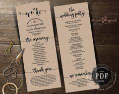 rustic wedding program fans best day wedding program fan pdf template instant wedding
