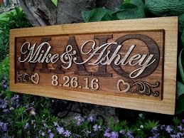 wedding gift signs rustic wedding gift family name sign last name numeric date