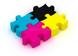 cymk puzzle cmyk puzzle stock illustration illustration of graphic 34930336