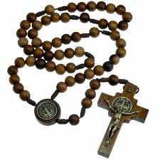 wooden rosary wooden st benedict rosary my rosary catholic faith