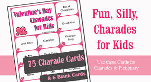 valentines kids s day charades for kids