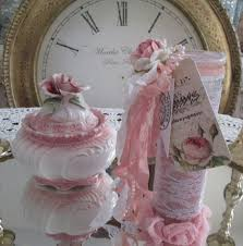 pink rose candle shabby chic home decor candle tall pink prayer