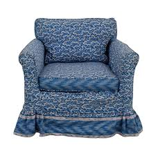 40 off custom blue upholstered accent chair chairs