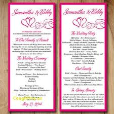 order of ceremony for wedding program new modern wedding program templates free templatefree template