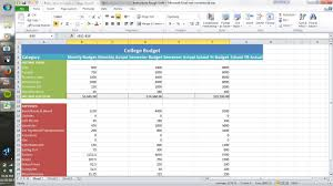 Weekly Expenses Spreadsheet How To Create A College Style Budget Using Excel 12 Steps