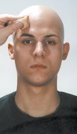 professional bald cap bald cap kit complete with makeup and bald cap