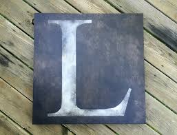 Letter Home Decor by Personalized Letter Or Initial Canvas Wall Art Home Decor Shown