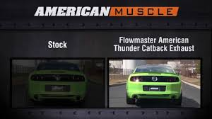 2013 mustang gt flowmaster exhaust 2013 2014 mustang flowmaster exhaust sound clip thunder