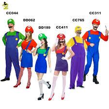 Mario Womens Halloween Costume Aliexpress Buy Super Mario Luigi Brothers Plumber
