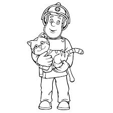 coloriage sam le pompier coloriages coloring