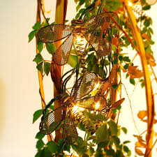 Dragonfly String Lights by Pansdore Christmas Lights Metal Dragonfly String Lights 10 Bulbs