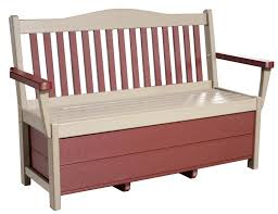 Poly Lumber Outdoor Furniture Poly Storage Bench From Dutchcrafters Amish Furniture