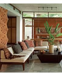 living rooms balinese interior design bali style brick wall