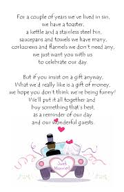 wedding gift quotes for money wedding money poem cards
