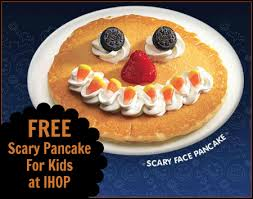 free scary pancake at ihop food