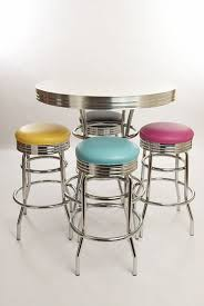 loft retro bar stool wood wrought iron chairs leisure in table and