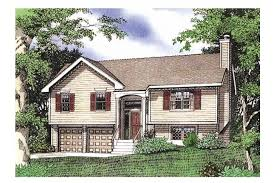 split level ranch house home plan homepw16023 1432 square foot 3 bedroom 2 bathroom