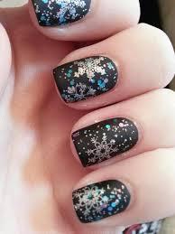 35 snowflake nail art ideas matte black nail polish matte black
