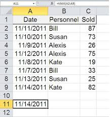 Which Date Is How To Find The Or Earliest Date And A Corresponding Value