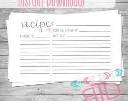 recipe cards etsy ca