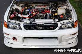 subaru gc8 coupe that frozen white subaru impreza sti wangan warriors