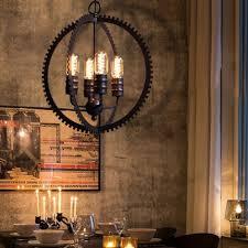 american country creative loft pendant light iron ampara colgante
