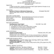 Sample Resume Of Experienced Mechanical Engineer Mechanical Engineering Recent Graduate Resume Sample Mechanical