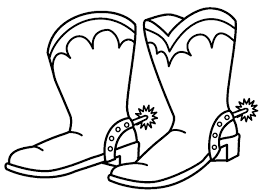 cowboy boots coloring pages printable images kids aim