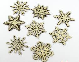 tree ornament wooden snowflake decoration