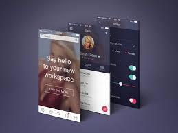 Resume App Teachers App Screens Perspective Mockup Psd