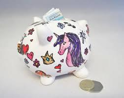 personalised piggy bank girly piggy bank etsy