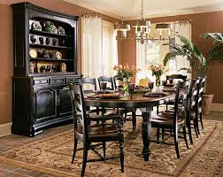 black dining room table set indigo creek black oval leg dining room table set by furniture