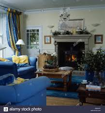 Country Living Room by Ideas Compact Living Decorating Blue Sofas In Country Modern