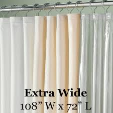 Wide Shower Curtain Speciality Sized 108in Wide Vinyl Shower Liner Altmeyer S