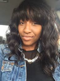 sew in weaves with bangs wavy weave with bangs find your perfect hair style